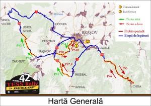 Harta Generala Raliul Brasovului 2013