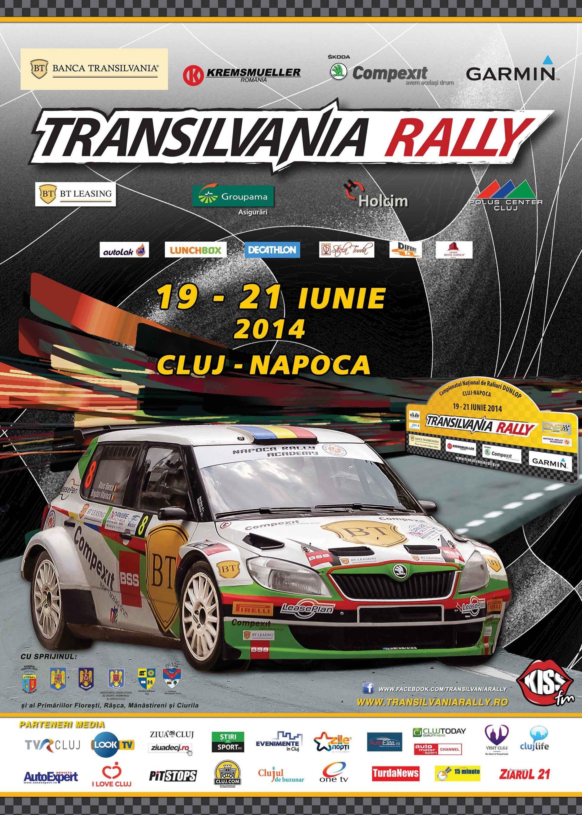 48 de echipaje pe lista de start pentru Transilvania Rally