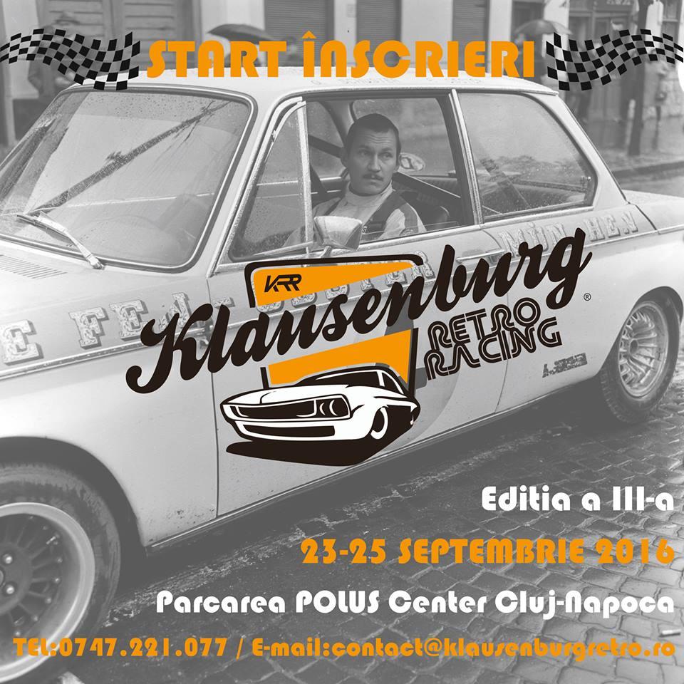 Klausenburg Retro Racing  23-25 septembrie 2016: Regulament particular