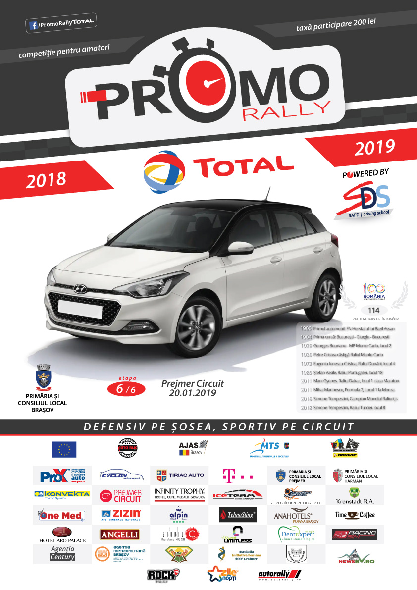 Auto Blic prezinta: Marea finala Promo Rally TOTAL powered by SDS se alerga la Prejmer