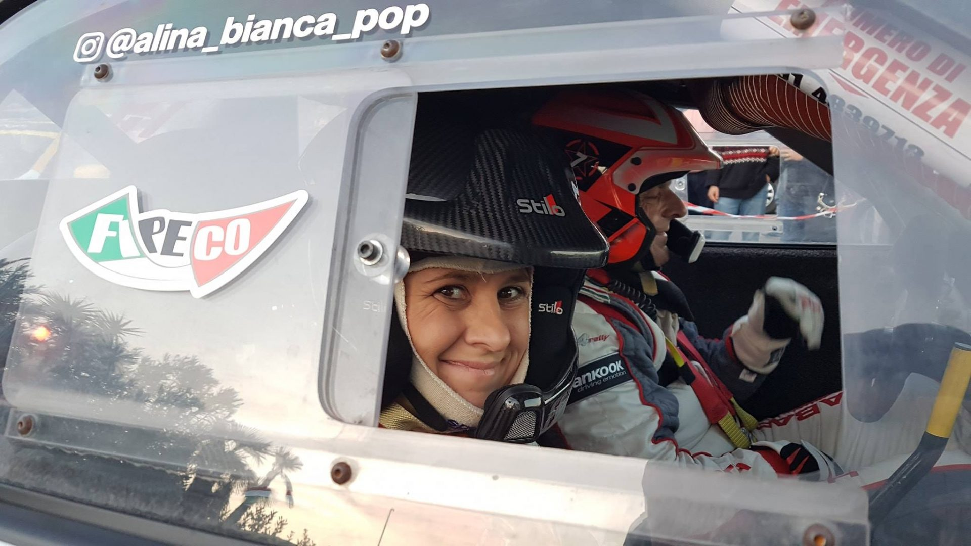 """Alina Pop: """"Un raliu nou este o provocare pentru orice pilot sau co-pilot, insa adevarata ambitie pentru mine a fost sa dictez in alta limba"""""""