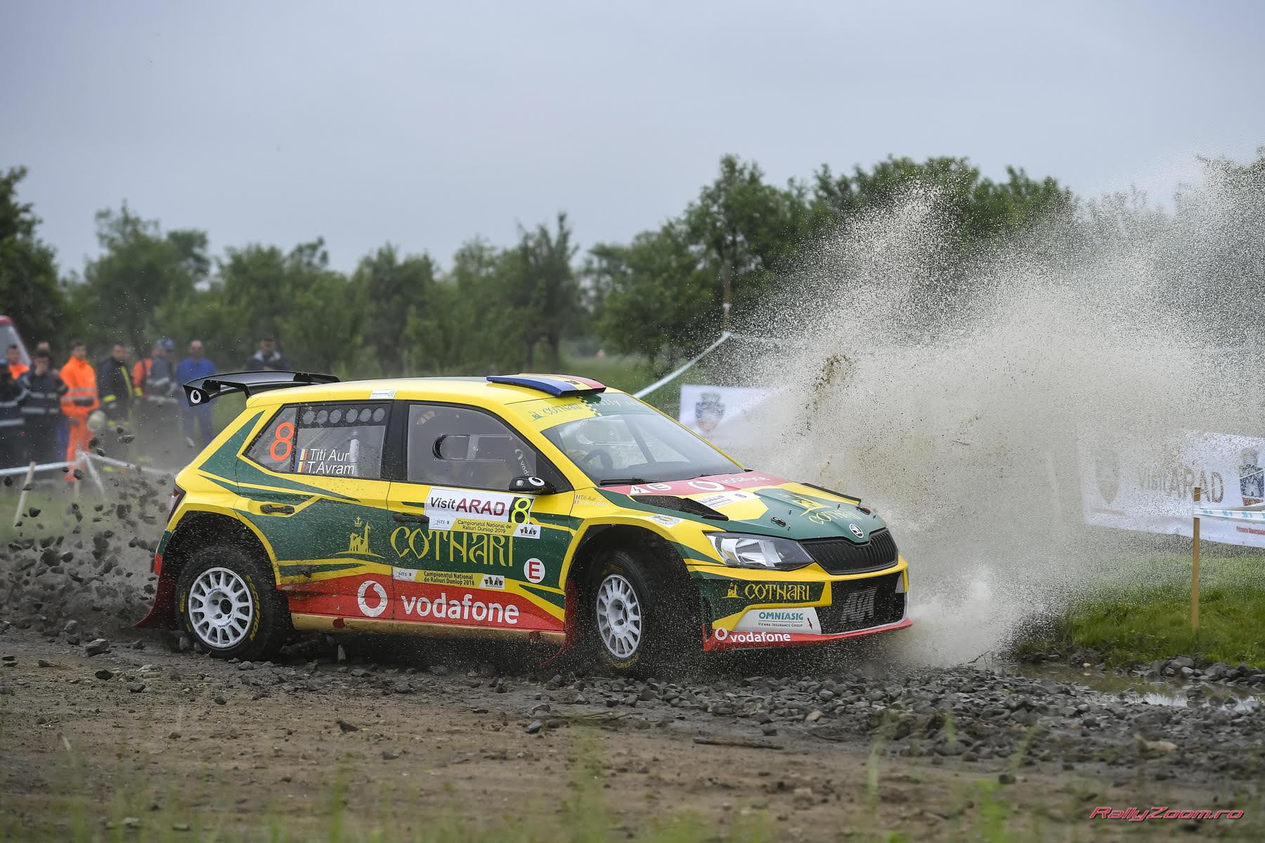 Un loc 5 pentru echipajul Cotnari Rally Team la Raliul Aradului