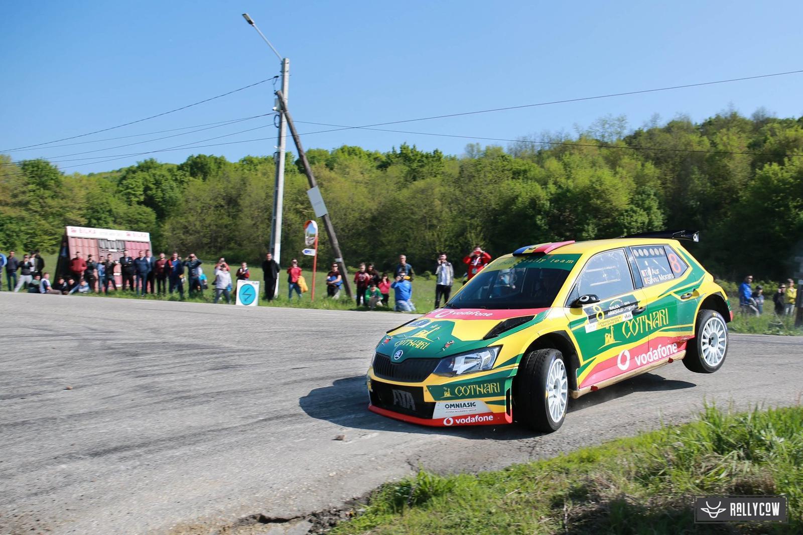Un viraj abordat prea optimist a pus punct prematur evolutiei echipajului Cotnari Rally Team