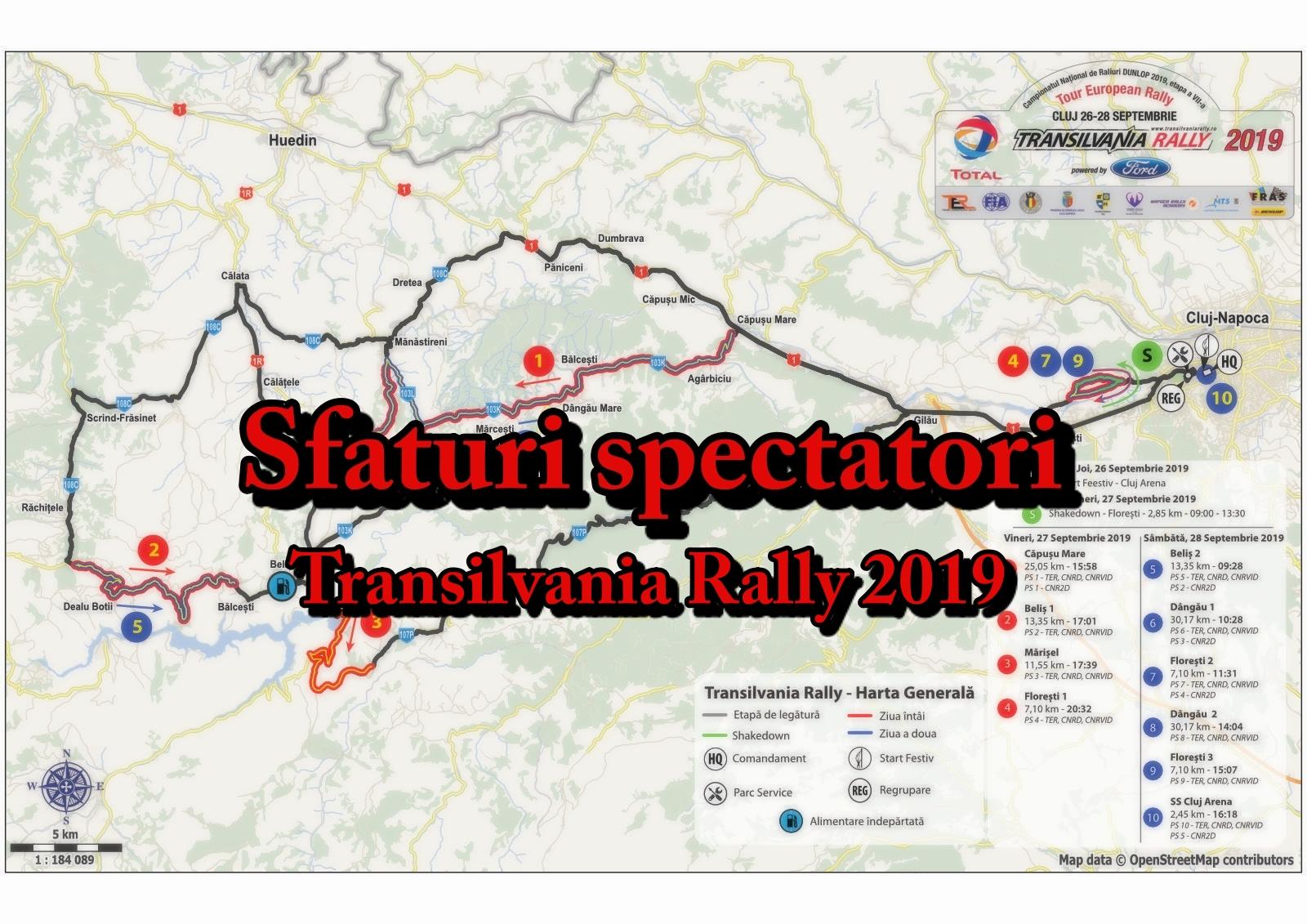 Transilvania Rally 2019 – Sfaturi & ghid spectatori