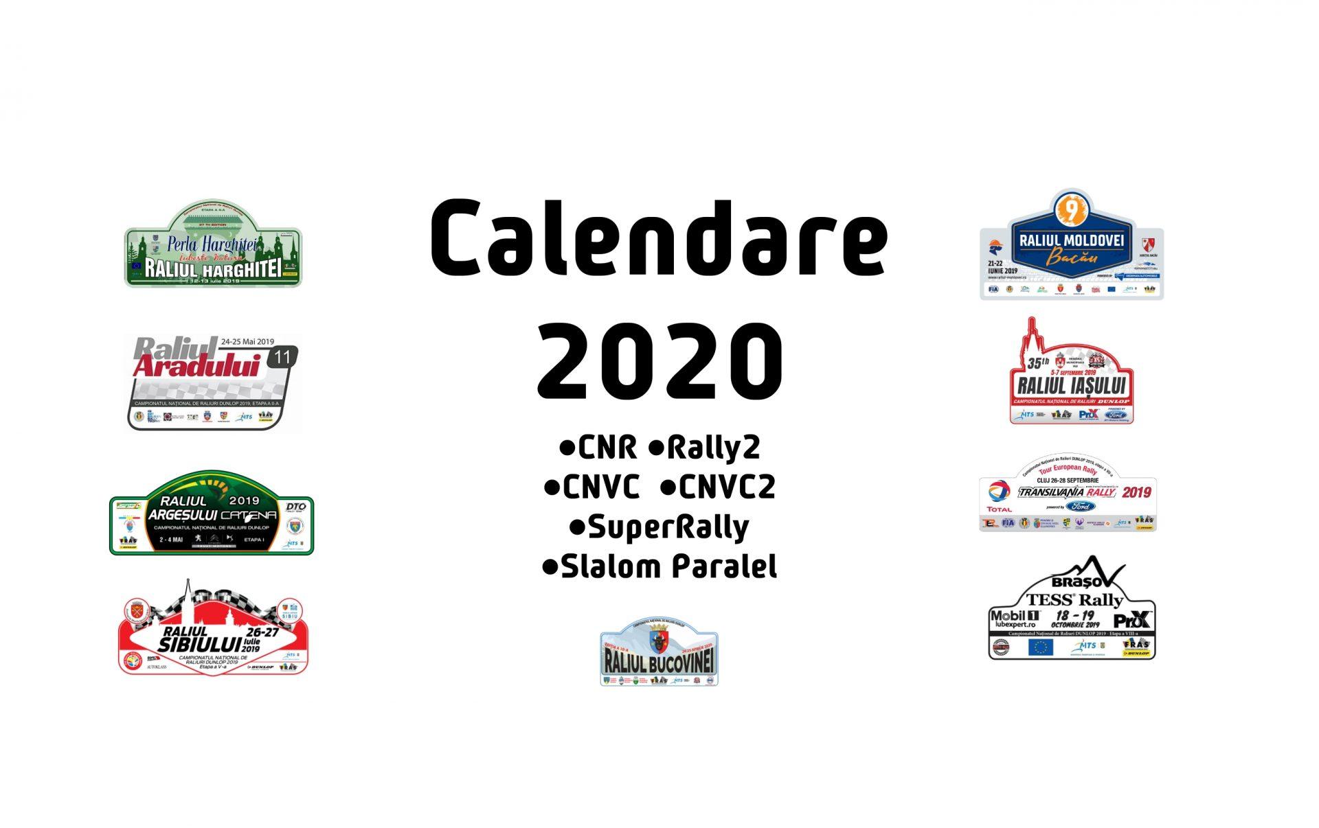 Calendare competitionale 2020