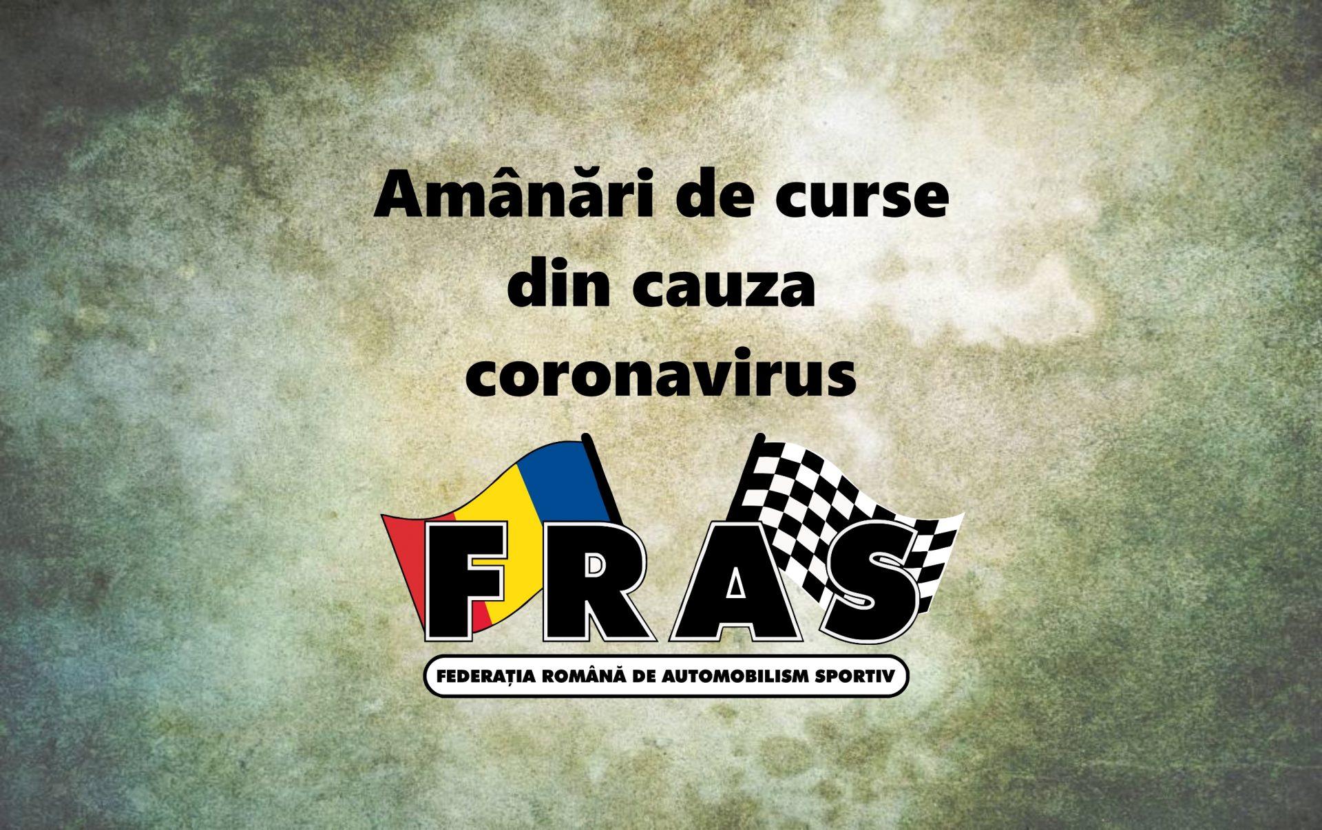 Amanari de competitii in Romania din cauza corona virus