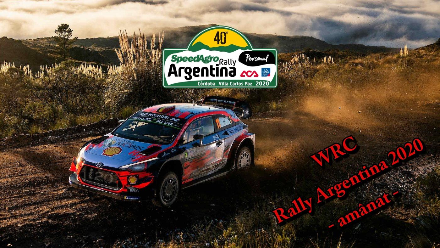 Rally Argentina 2020 – prima etapa WRC amanata