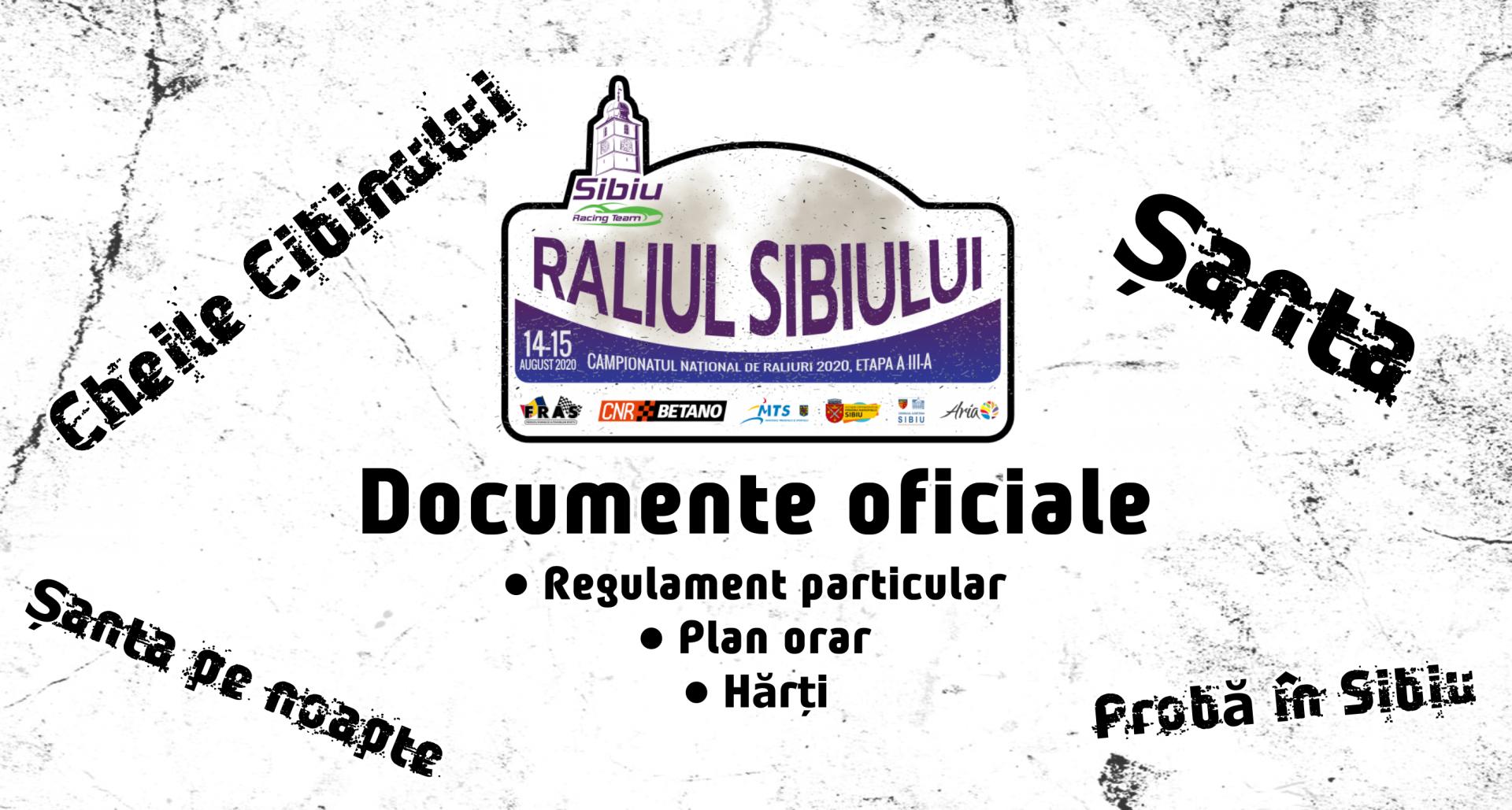 Raliul Sibiului 2020 – Documente oficiale