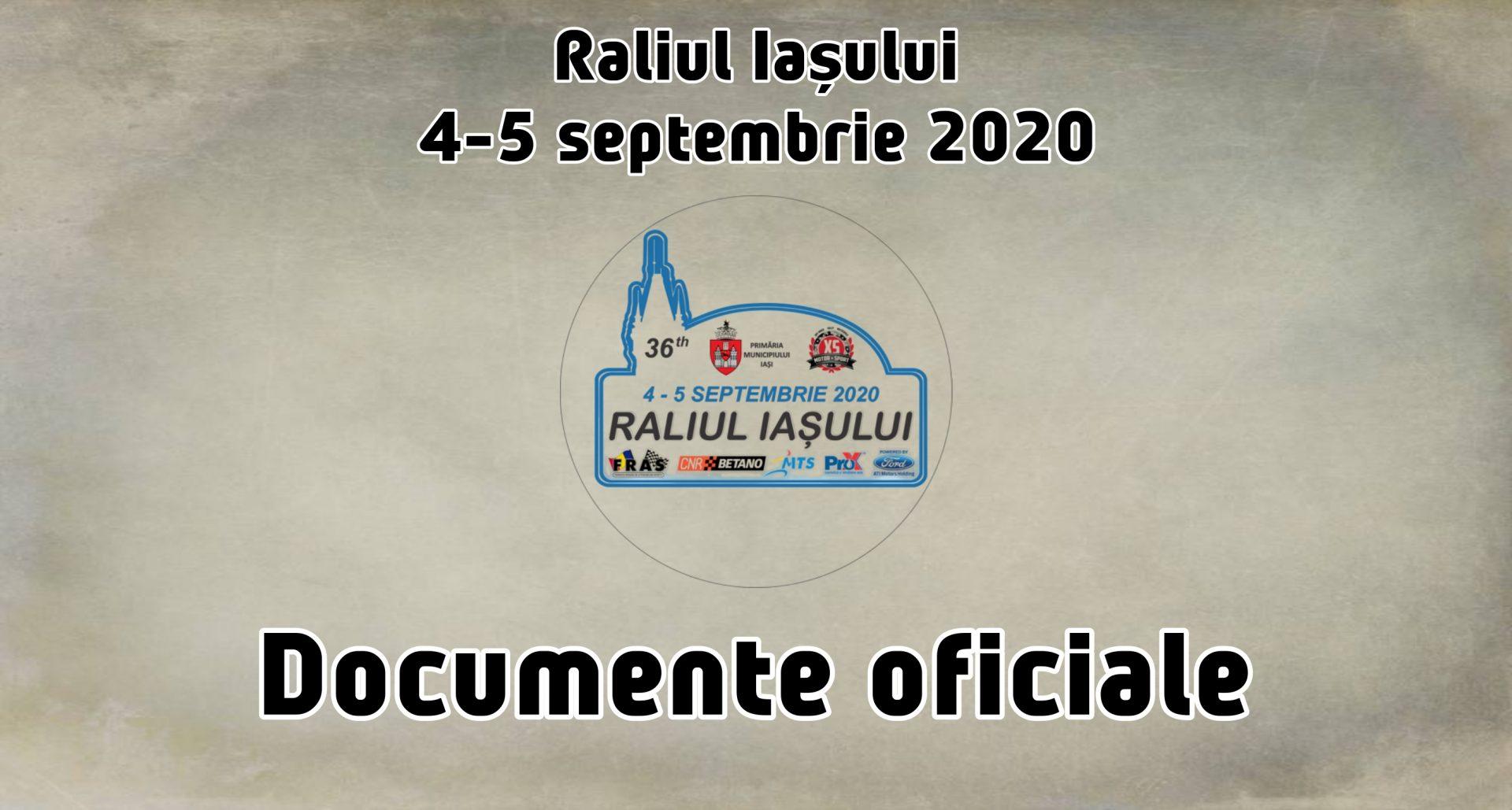 Documente oficiale Raliul Iașului 2020