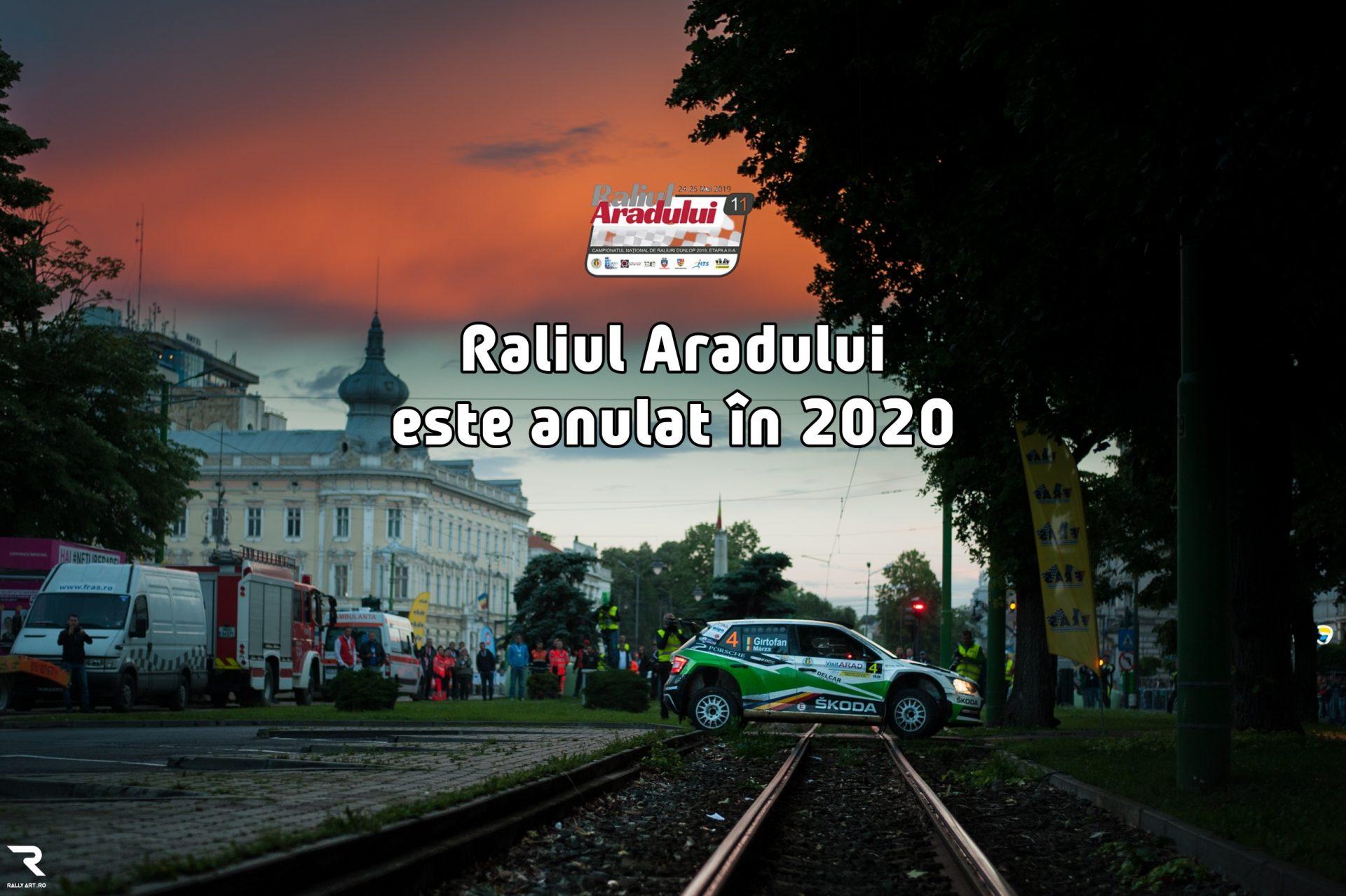 Raliul Aradului 2020 este anulat!
