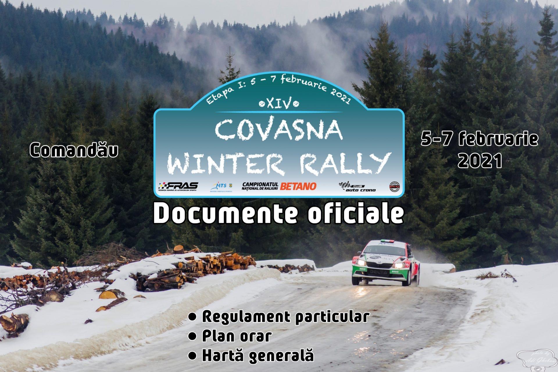 UPDATE: CURSA ESTE AMÂNATĂ! Winter Rally Covasna 2021 – Documente oficiale