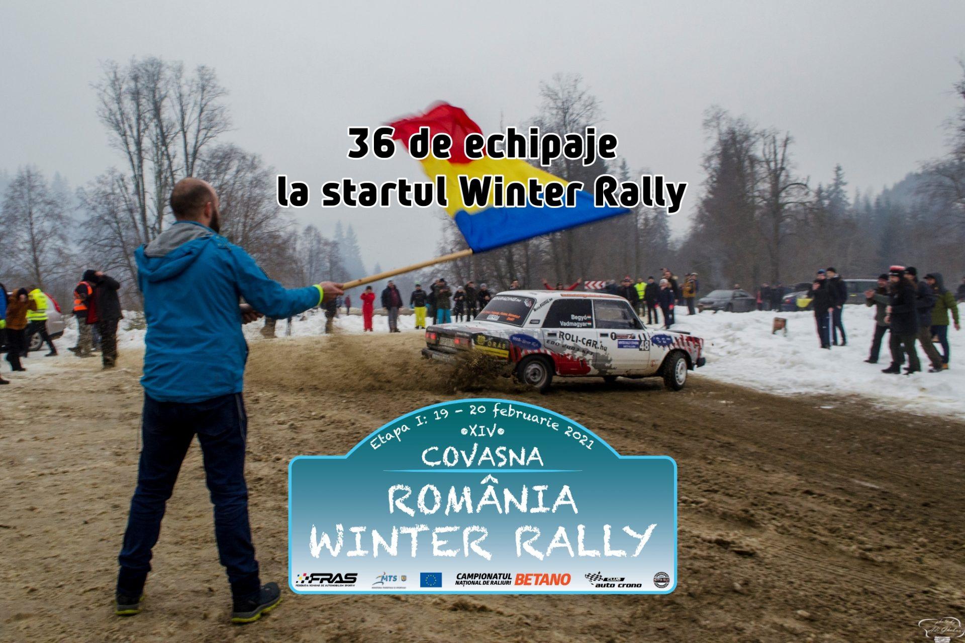38 de echipaje pornesc în România Winter Rally 2021