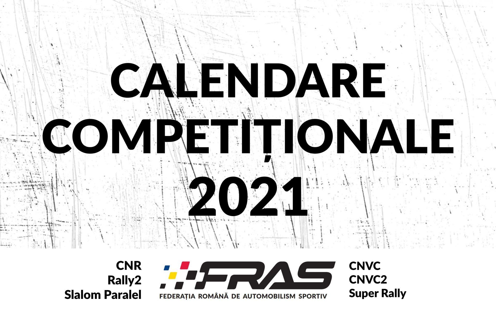 Calendare Competiționale 2021