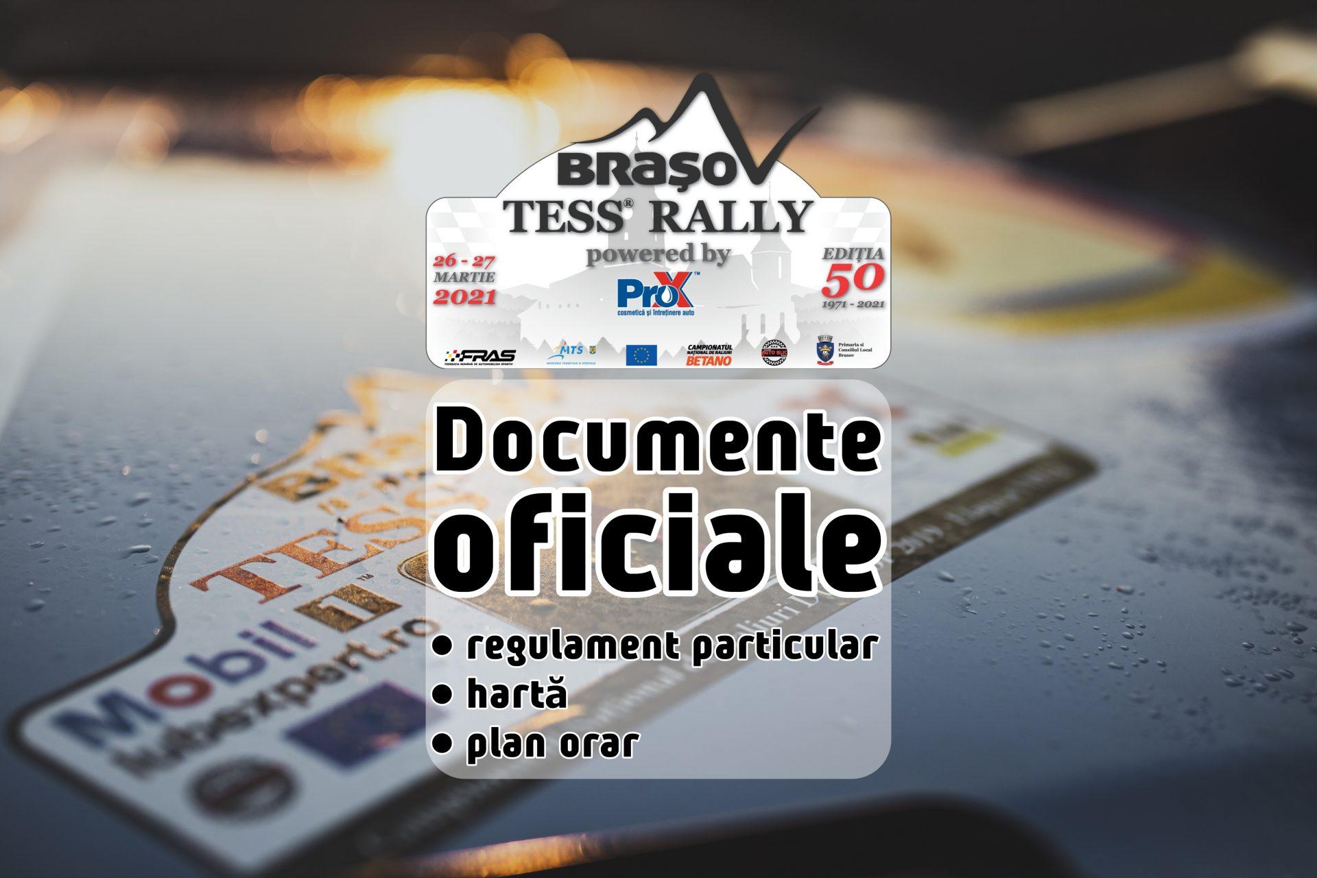 Tess Rally Brașov powered by ProX 2021 – Documente oficiale