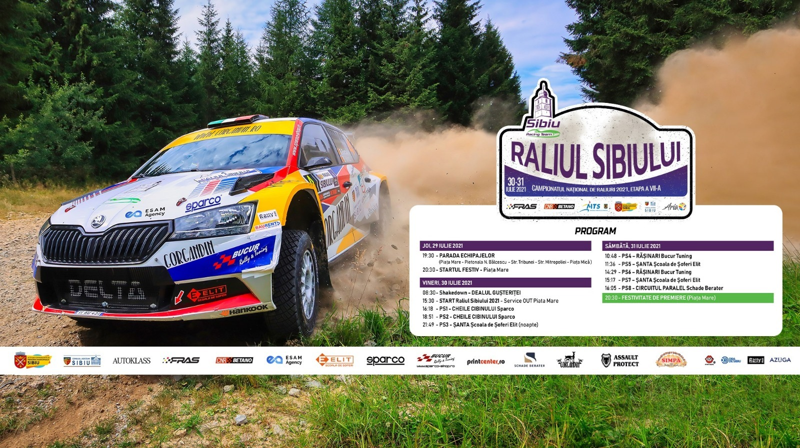 67 de echipaje s-au înscris la Raliul Sibiului 2021