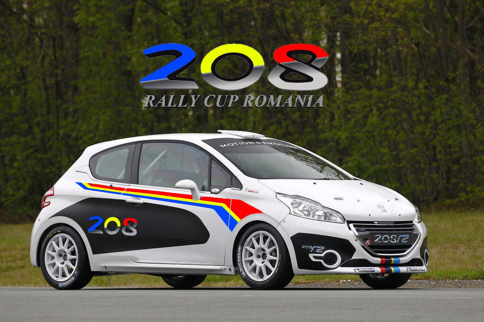 208 R2 Cup începând cu sezonul 2022 în Campionatul Național de Raliuri Betano