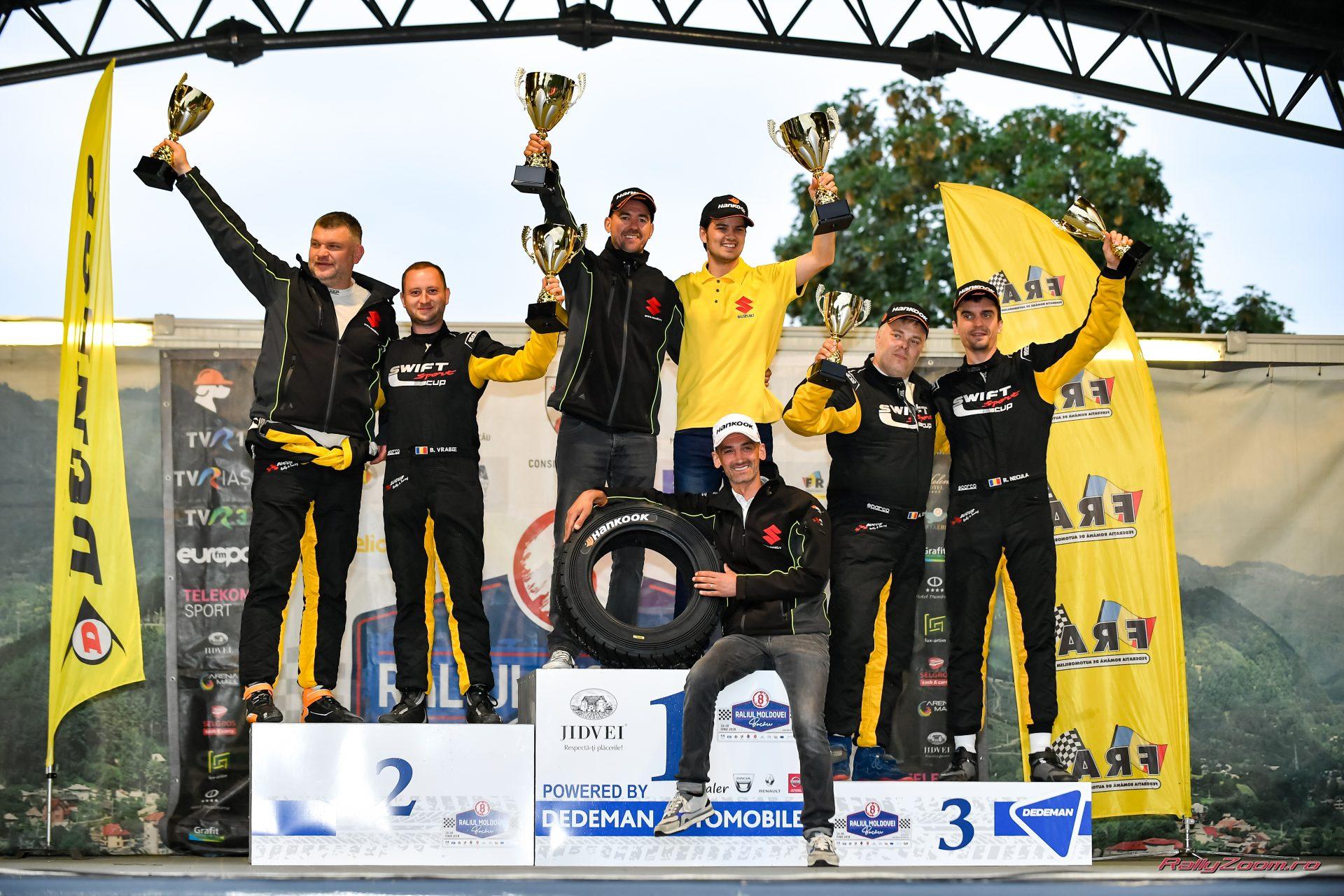 Succes pe macadamul Raliului Moldovei Bacau pentru toate echipajele din Cupa Suzuki