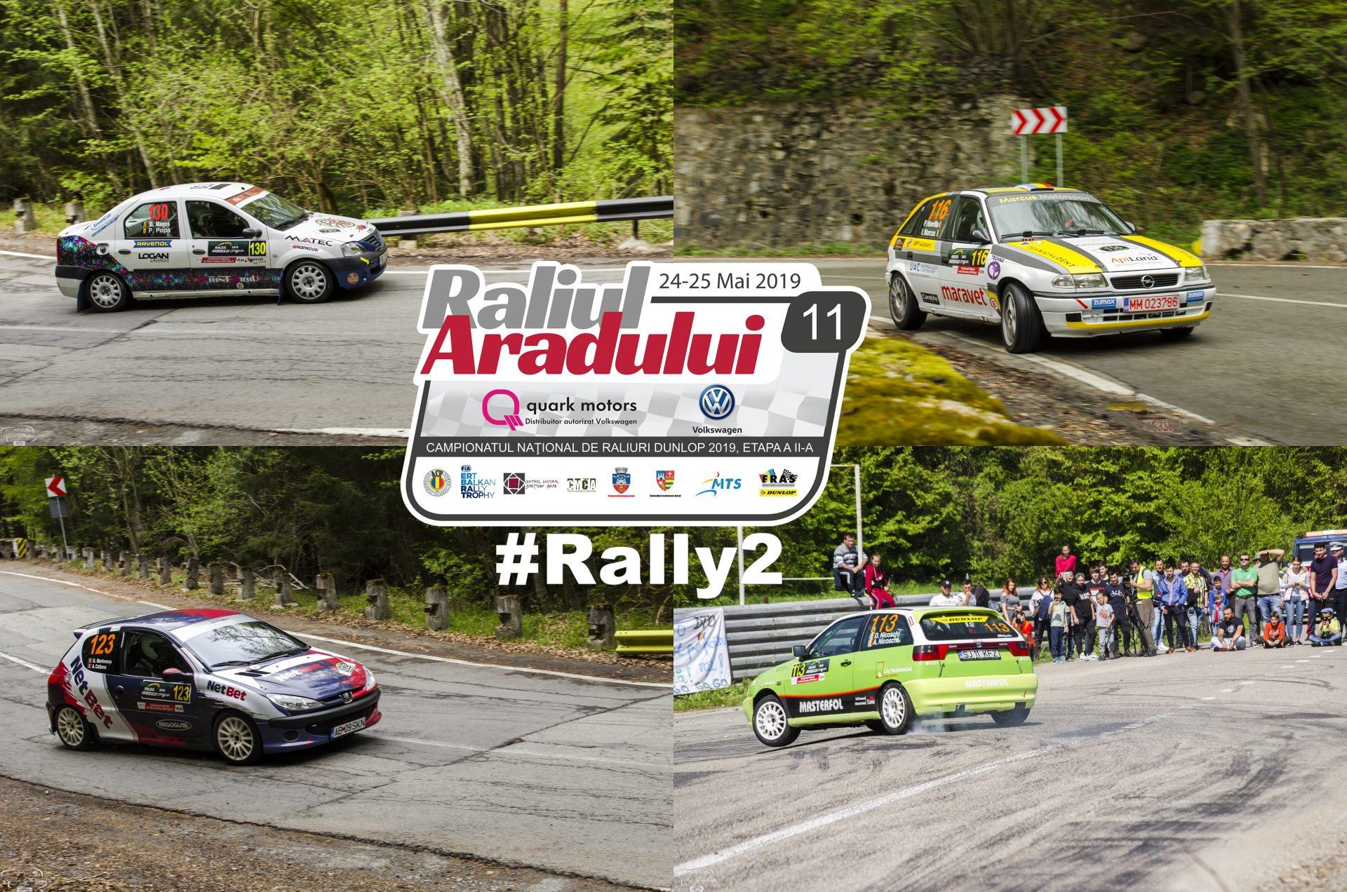 Rally2 se anunta interesant la Raliul Aradului 2019