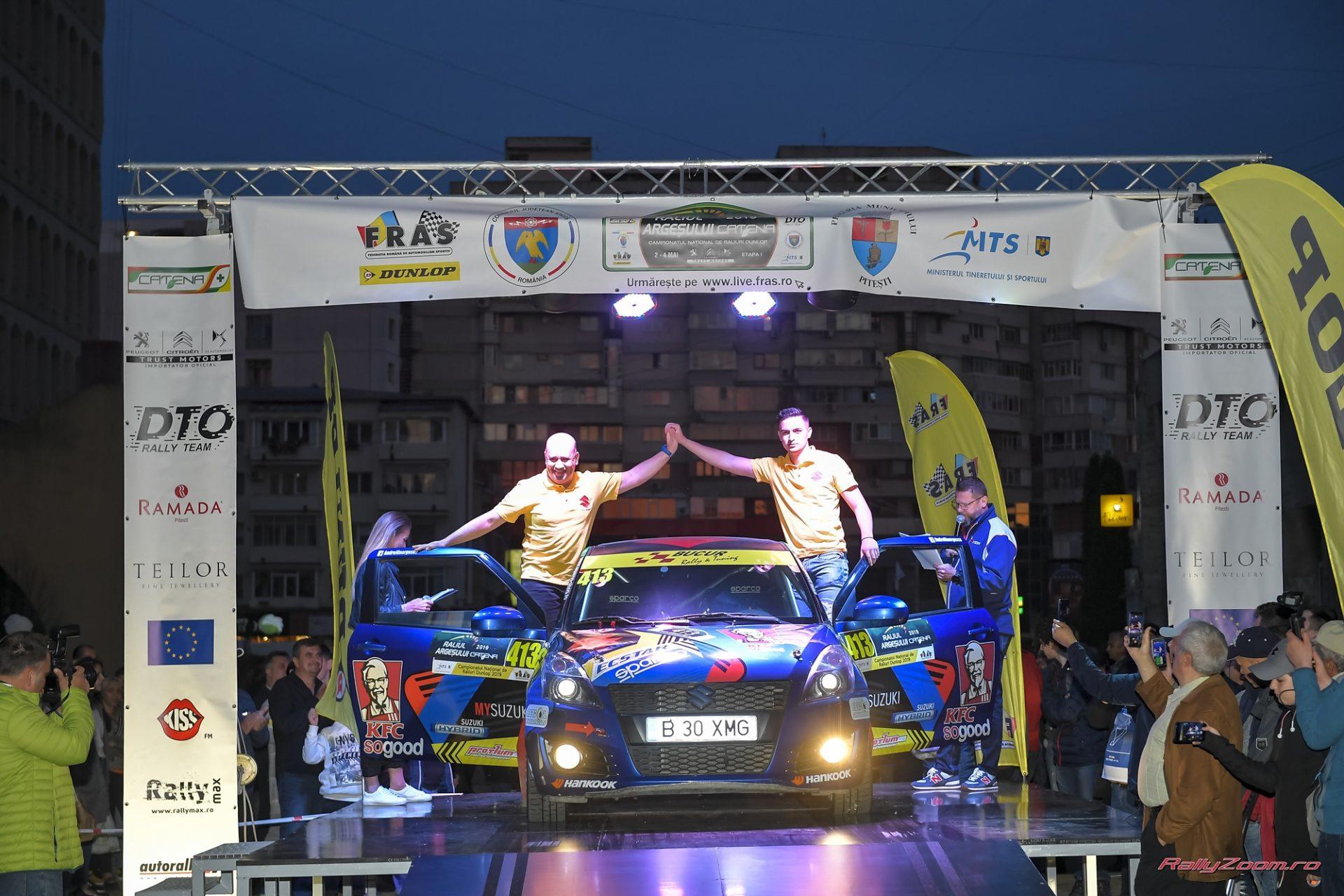 Andrei Georgescu la un pas de podium la Raliul Argesului