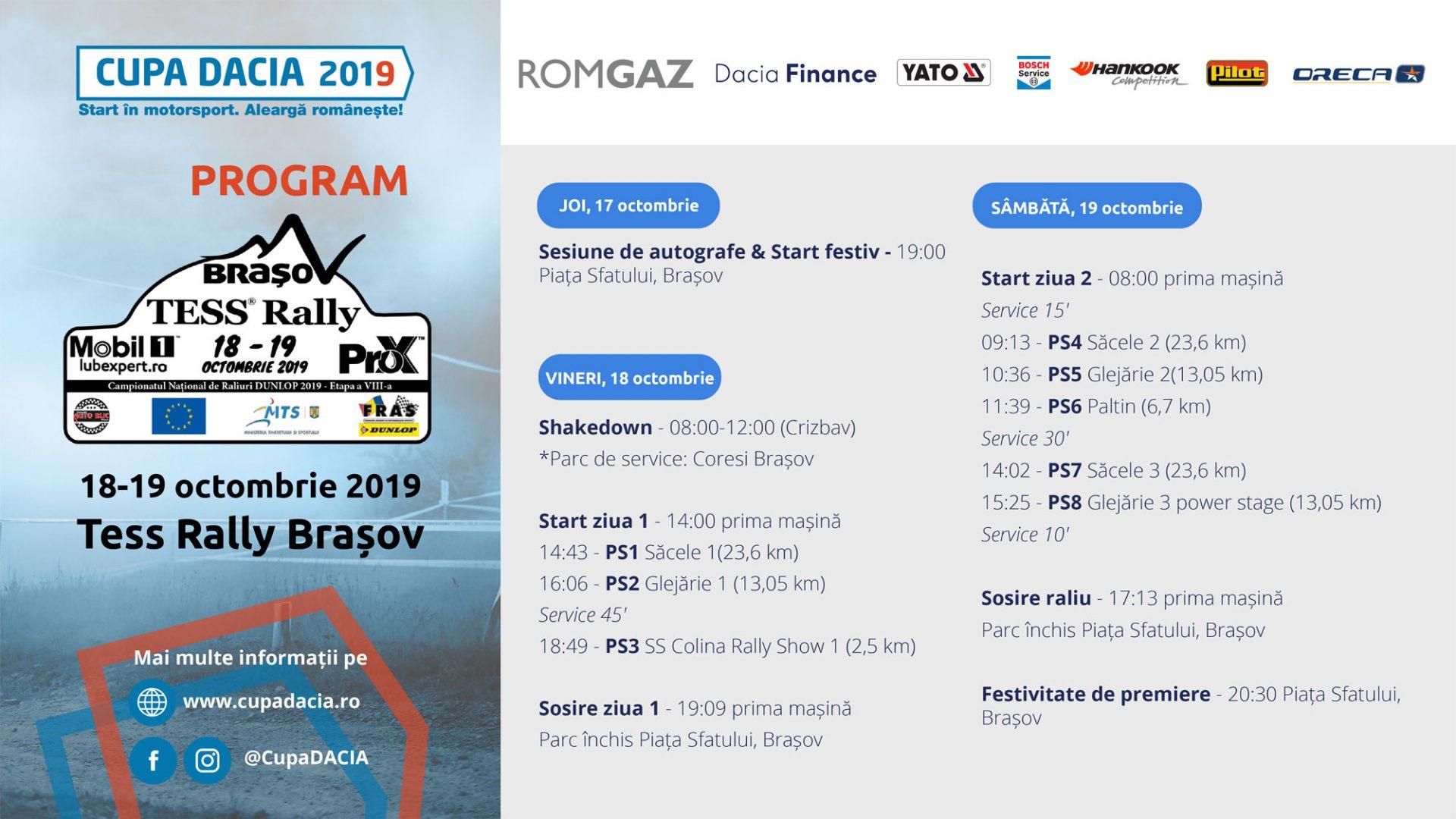 Cupa DACIA 2019 – totul se decide la Tess Rally Brasov