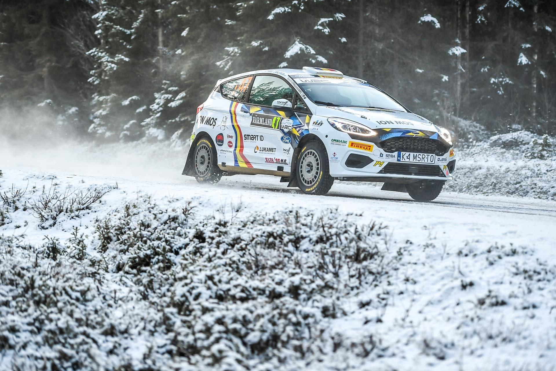 Raul Badiu si Gabriel Lazar obtin victorii de proba si locul 5 in Raliul Suediei