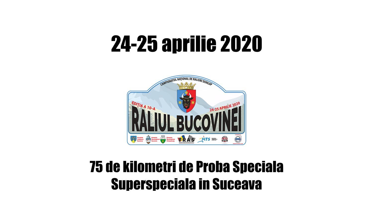 75 de kilometri cronometrati la Raliul Bucovinei