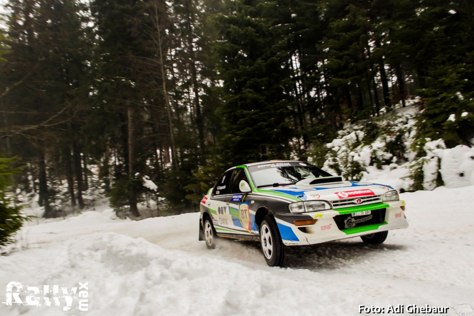 Simone Tempestini conduce in Winter Rally Covasna 2020