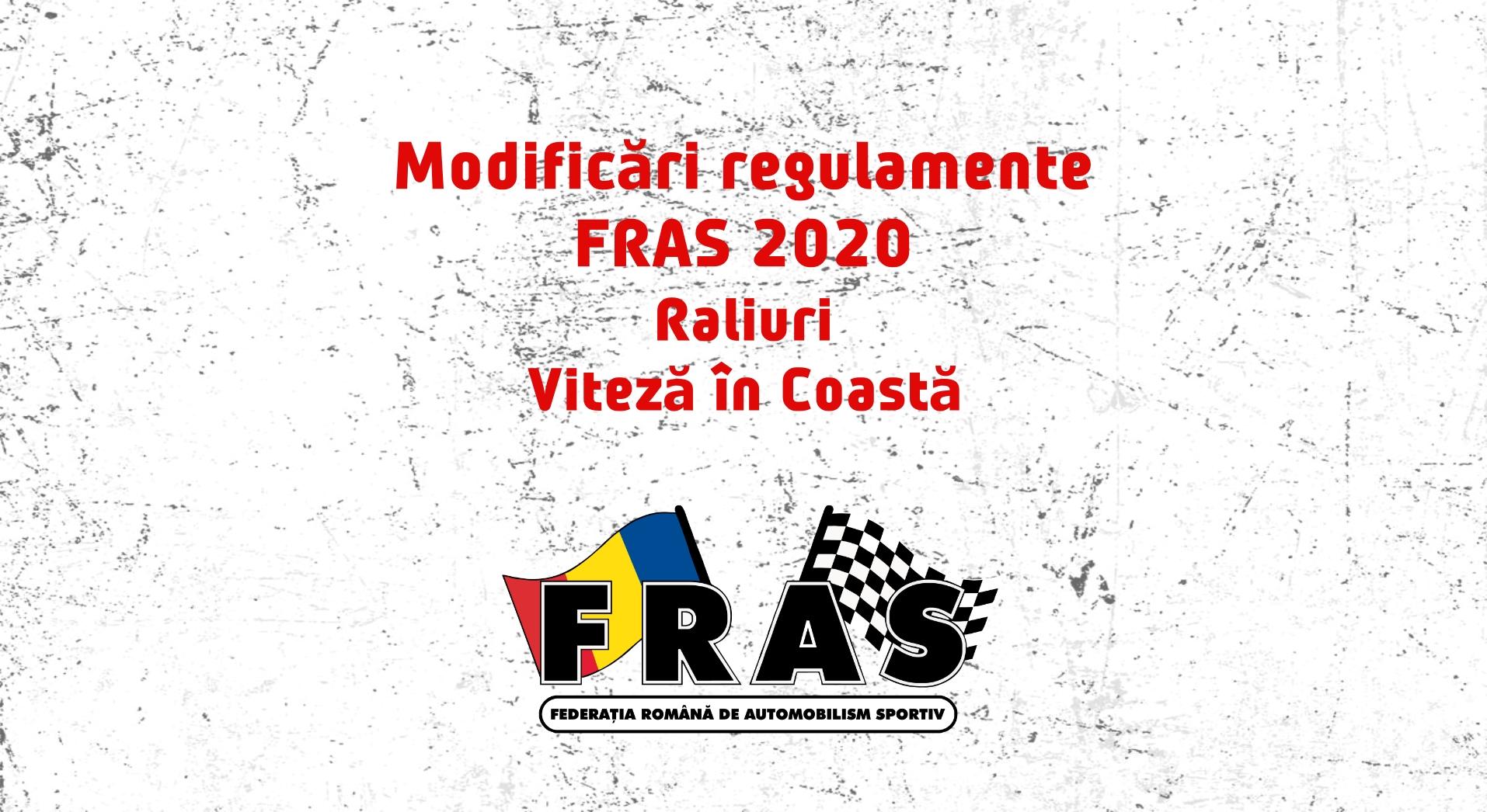 Modificari regulamente pentru Raliu si Viteza in Coasta 2020 – din cauza COVID-19