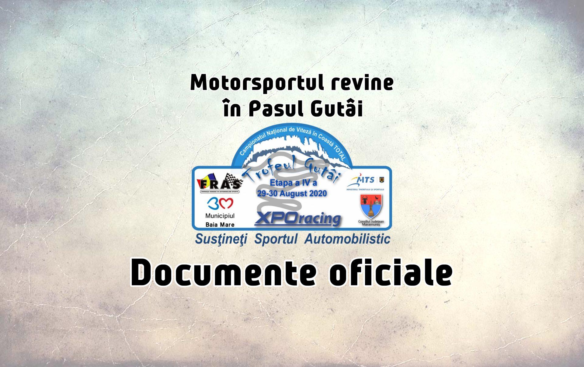 Trofeul Gutâi 2020 – Documente oficiale