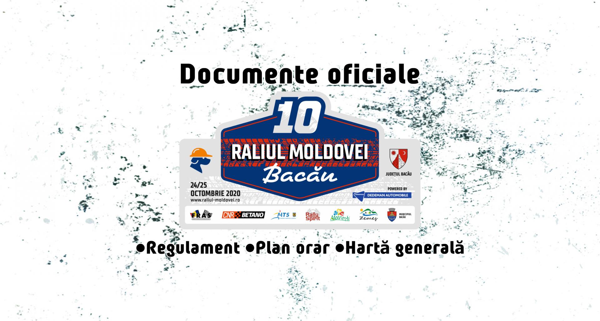 Documente oficiale Raliul Moldovei 2020
