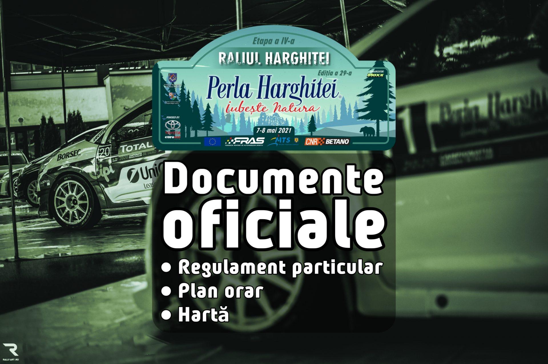 Raliul Perla Harghitei 2021 – Documente oficiale