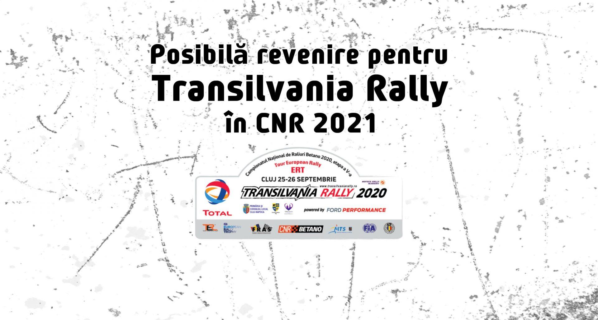"""Posibilă revenire a Transilvania Rally după aprobarea """"de principiu"""" de către FRAS"""