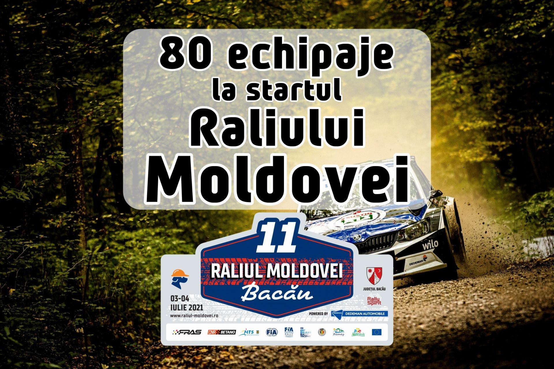 80 de echipaje pornesc în Raliul Moldovei 2021
